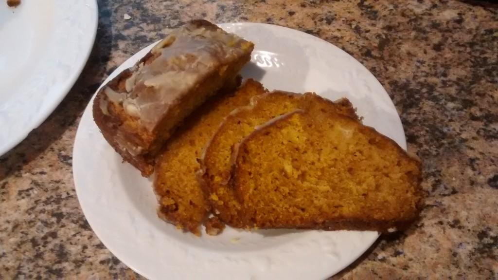 Pumpkin Bread with Caramel Glaze - AND some Superbowl Recipes!